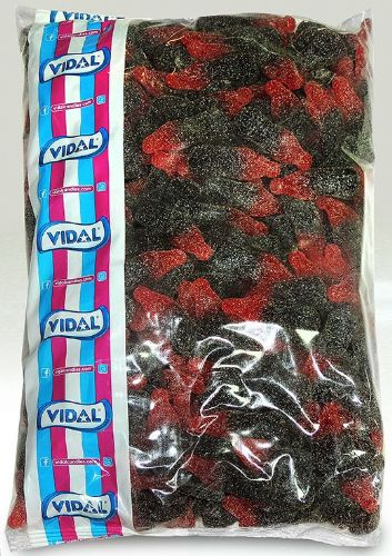 Q132 FIZZY CHERRY COLA BOTTLES 3KG POLY